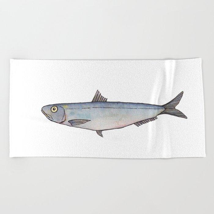 Sardine: Fish of Portgual Beach Towel