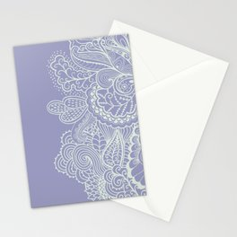Abstract Nature in Ultraviolet Stationery Cards
