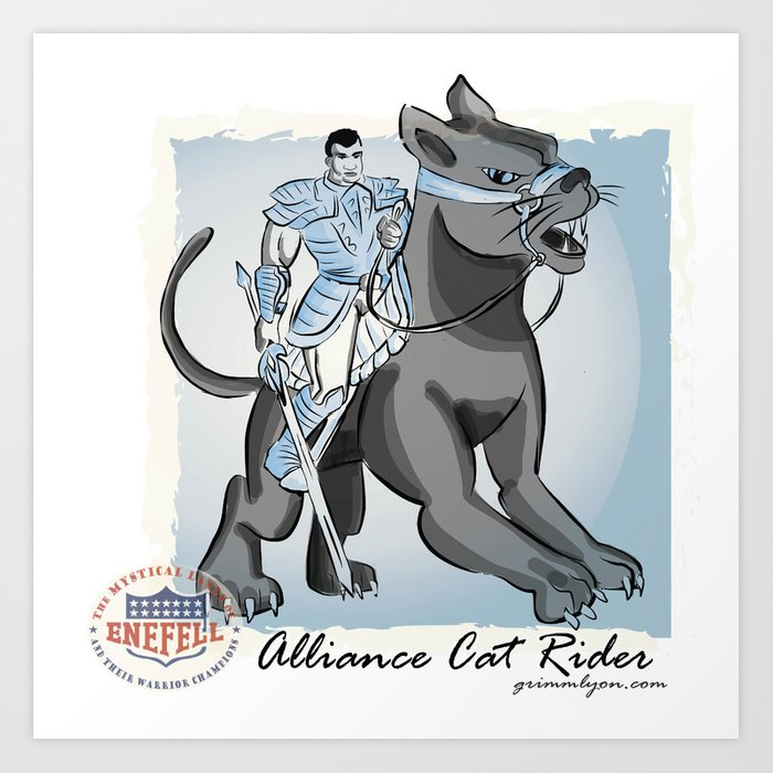 Cat Rider of the Pan/Thor Alliance Art Print