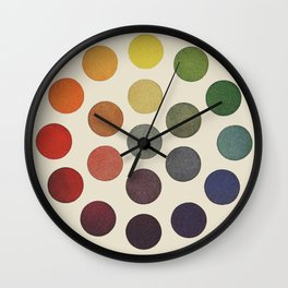'Parsons' Spectrum Color Chart' 1912, Remake Wall Clock