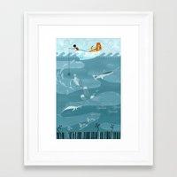fishing Framed Art Prints featuring Fishing by Erik Krenz