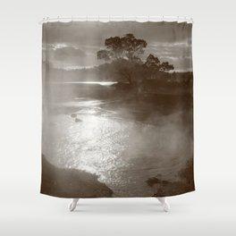 Sleeping volcano Shower Curtain