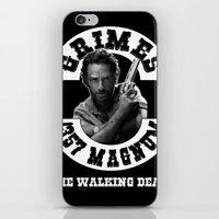 rick grimes iPhone & iPod Skins featuring Rick Grimes & .357 Magnum by SwanniePhotoArt