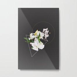 Tropical Flowers & Geometry II Metal Print