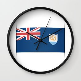 Flag of Anguilla. The slit in the paper with shadows.  Wall Clock