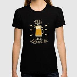 Bartender Cocktail Party Tip Pun T-shirt