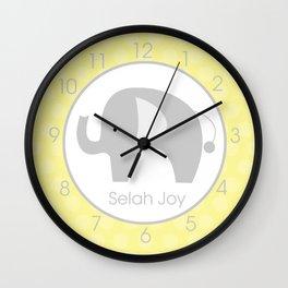 Selah Joy - Elephant Wall Clock
