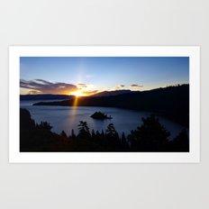 Sunrise at Emerald Bay Art Print