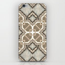 Victorian Art Deco Medieval Pattern light gray SB27 iPhone Skin