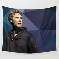 benedict cumberbatch Wall Tapestries featuring Benedict Cumberbatch - Hamlet Barbican by khitkhat