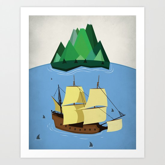A Galleon on the High Seas Art Print