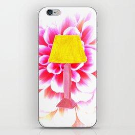 lamp shade flower illustration iPhone Skin