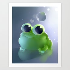 Apple Frog Art Print