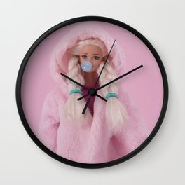 Winter bubble Wall Clock