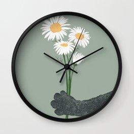 Hidden cat 21 spring flower gift  Wall Clock