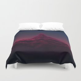 Pink mountains at night Duvet Cover