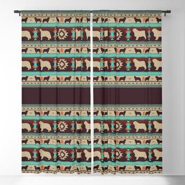 Boho dogs | Berner Sennenhund/Bernese mountain dog sunset Blackout Curtain