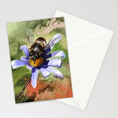 Bee on flower 18 Stationery Cards