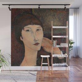"Amedeo Modigliani ""Adrienne (Woman with Bangs)"" (1916) Wall Mural"