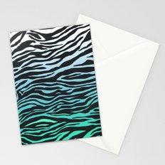 TEAL ZEBRA FADE Stationery Cards