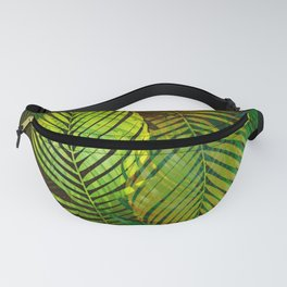 TROPICAL GREENERY LEAVES Fanny Pack