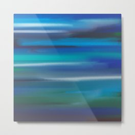 Aegean Blue Abstract Metal Print