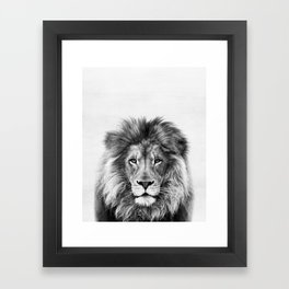 Lion, Animal, Minimal, Trendy decor, Nursery, Interior, Wall art, Photo Framed Art Print