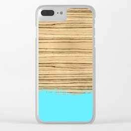 Dipped Wood - Zebrawood Clear iPhone Case