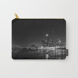 Detroit Skyline at night Carry-All Pouch