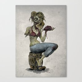 Pinup Zombie Girl Canvas Print