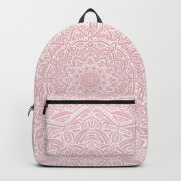 Most Detailed Mandala! Rose Gold Pink Color Intricate Detail Ethnic Mandalas Zentangle Maze Pattern Backpack