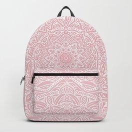 Most Detailed Mandala! Rose Gold Pink Color Intricate Detail Ethnic Mandalas Zentangle Maze Pattern Backpack