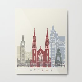 Ottawa skyline poster Metal Print