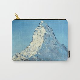 Matterhorn, Mont Cervin - original mountain landscape oil painting Carry-All Pouch