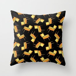 Pinball Machine Pattern Throw Pillow