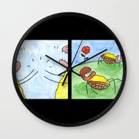 turtles Wall Clocks featuring Turtles by Bakal Evgeny