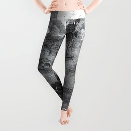 Gustave Dore: A Voyage To The Moon Leggings