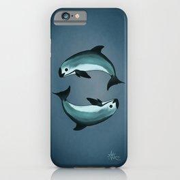 Spiraling ~ Vaquita Porpoise art by Amber Marine (Copyright 2015) iPhone Case