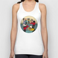 band Tank Tops featuring Star Trek Jam Band by Jessica Fink