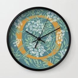 Floral Monogram Letter Q Wall Clock