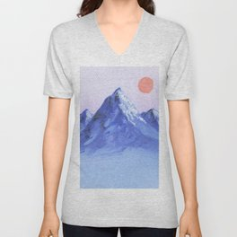 Shades of Mountain Majesty Unisex V-Neck