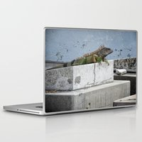 iggy Laptop & iPad Skins featuring IGGY the Iguana  by Cemetery Prints Inc.
