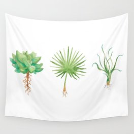 Plant Trio Watercolor Wall Tapestry