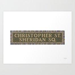 Christopher Street Art Print