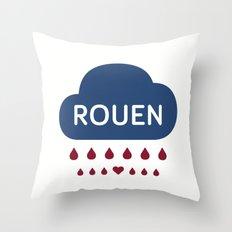 Rainy Rouen Throw Pillow