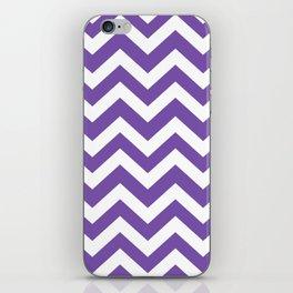 Royal purple - violet color - Zigzag Chevron Pattern iPhone Skin
