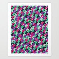 black pink purple teal Art Print