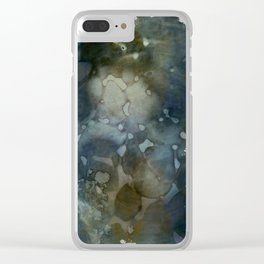 floating colors Clear iPhone Case