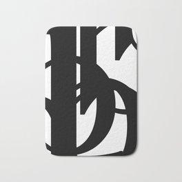 Hidden Letters. Baskerville B Bath Mat