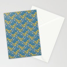 Flowers Blue Pattern Stationery Cards